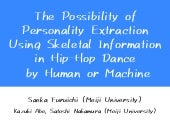 The possibility of personality extraction using skeletal information in hip-hop dance by human or machine
