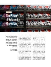 The Power of Advocate Marketing