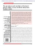 The prevalence and correlates of low back pain in adults