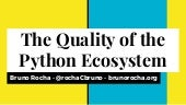 The quality of the python ecosystem - and how we can protect it!