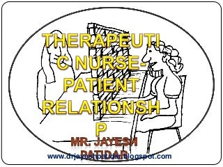 Theraeutic nurse patient relationship