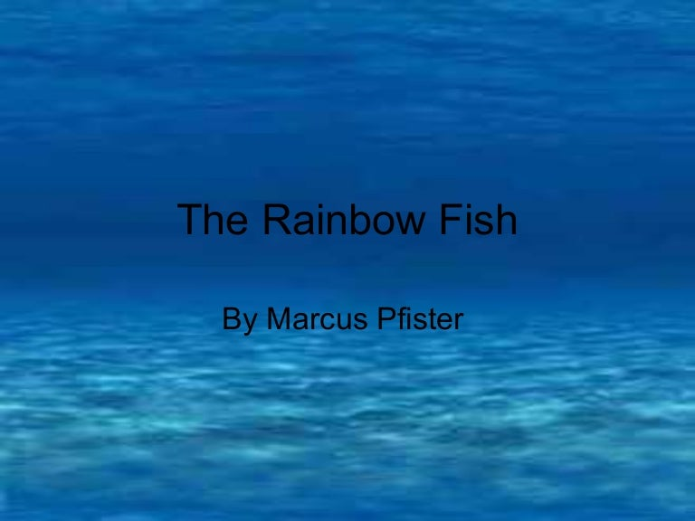 the rainbow fish story book