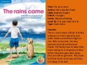 The Rains Came Rainbow Reading Cambridge University Press