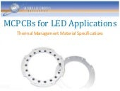 Thermal Management: MCPCBs for LED Applications