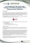 Case Study Fiat: The First Light Commercial Vehicle Equipped with a Thermoelectric Generator