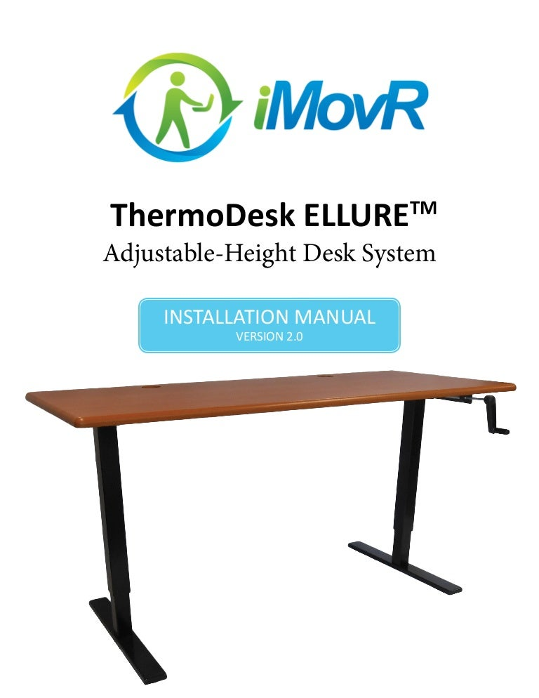 Manual Height Adjustable Desk Manual Guide