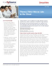Case Study: Thermo fisher