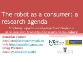 The robot as a consumer: a research agenda