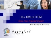 The ROI of ITSM – Know Your Financial Impact! An ITSM Academy Webinar