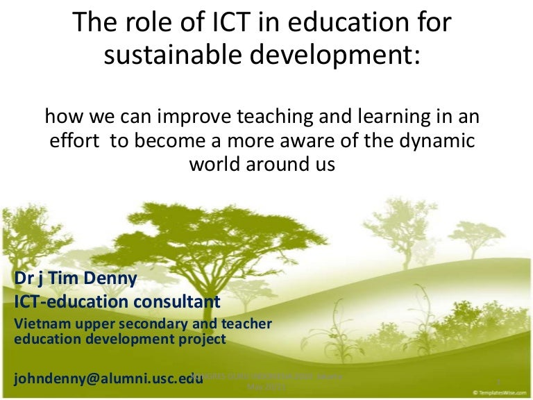 The Role Of Independent Educational >> The Role Of Ict In Education For Sustainable V2