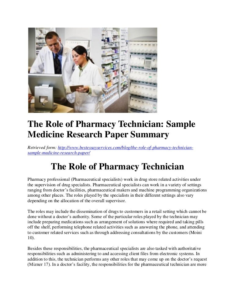 Research papers on pharmacy