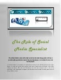 The role of social media specialist