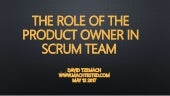 The role of the product owner in scrum team | David Tzemach