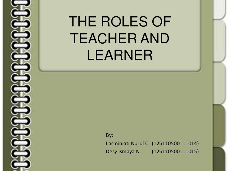The Roles Of Teachers And Learners - Best of notebook paper powerpoint template design