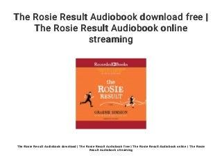 the rosie result pdf free download