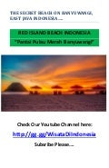 Pantai Pulau Merah Banyuwangi - RED ISLAND BEACH
