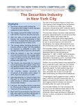 The Securities Industry in New York City