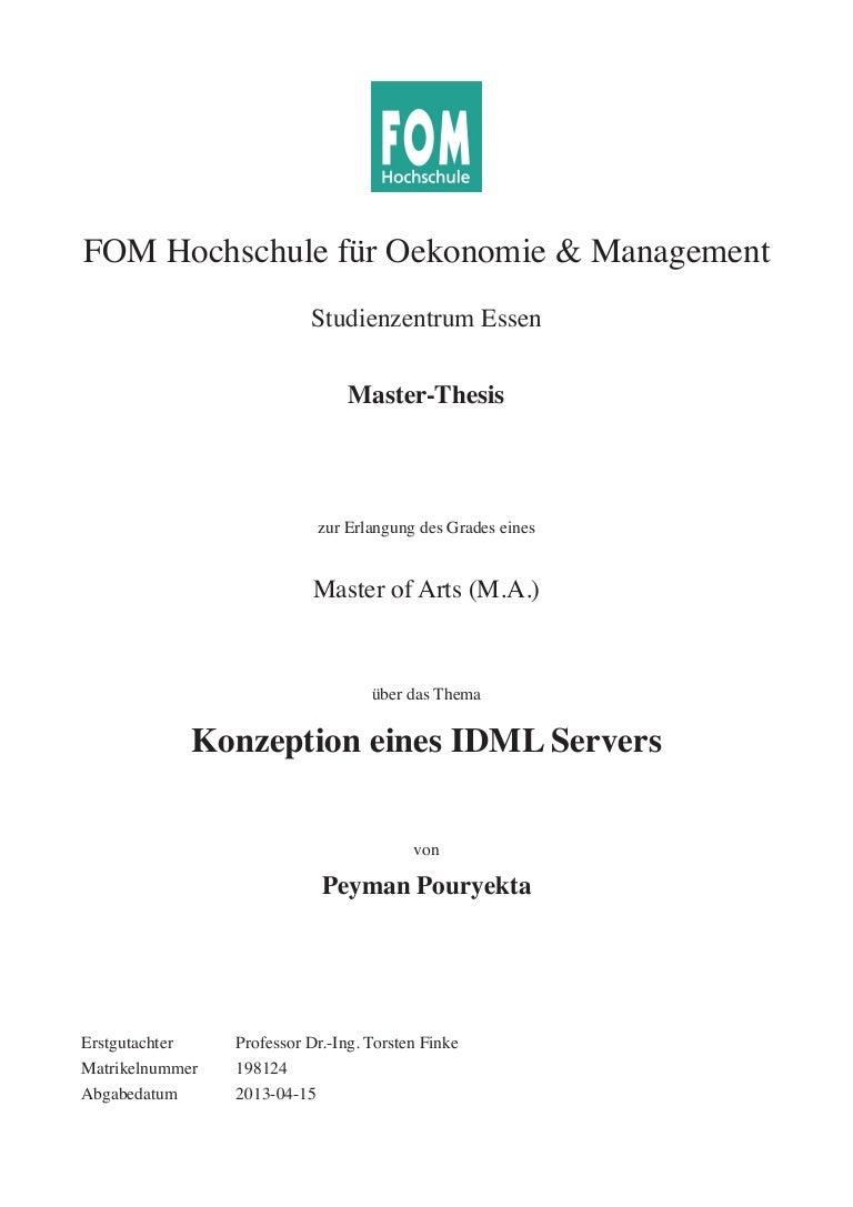 Konzeption eines IDML Servers
