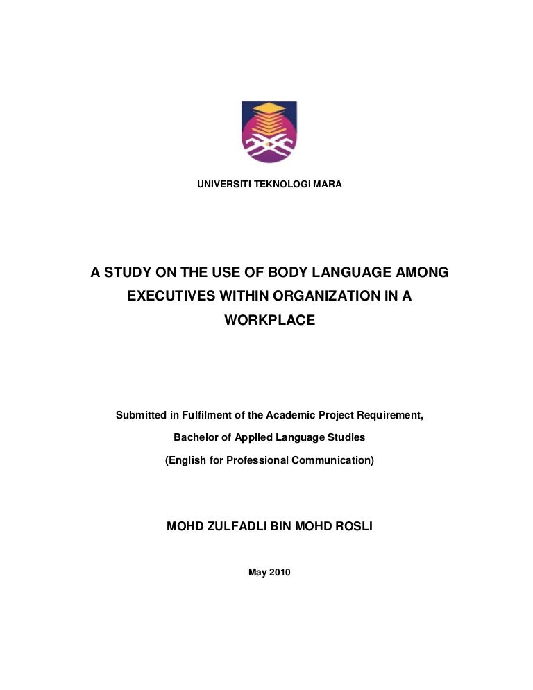 Cover Page Thesis Uitm Thesis Title Ideas For College