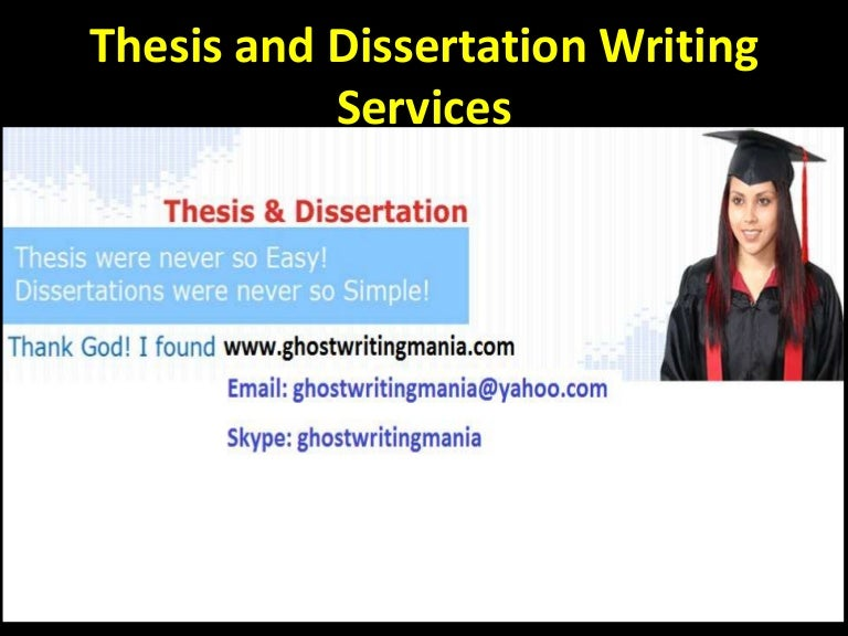 thesis writer in lahore