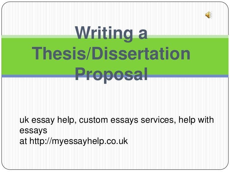 Dissertation thesis uk