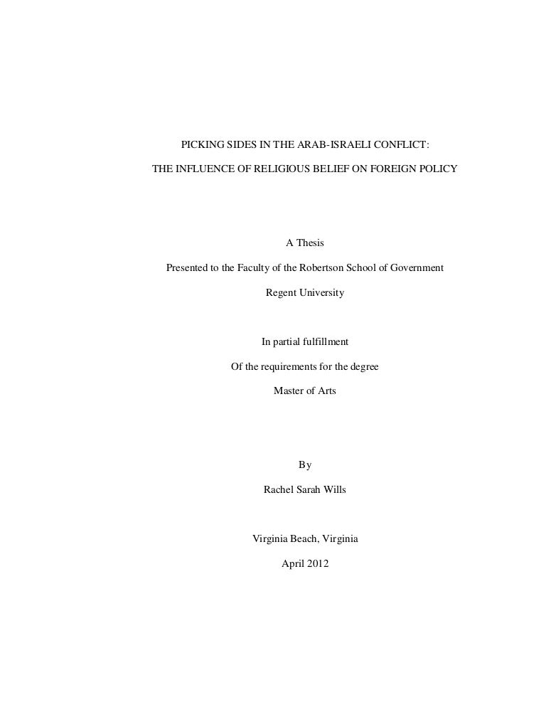 Thesis towards masters degree