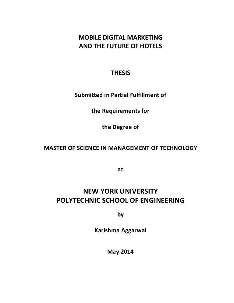 Management Marketing Master Thesis