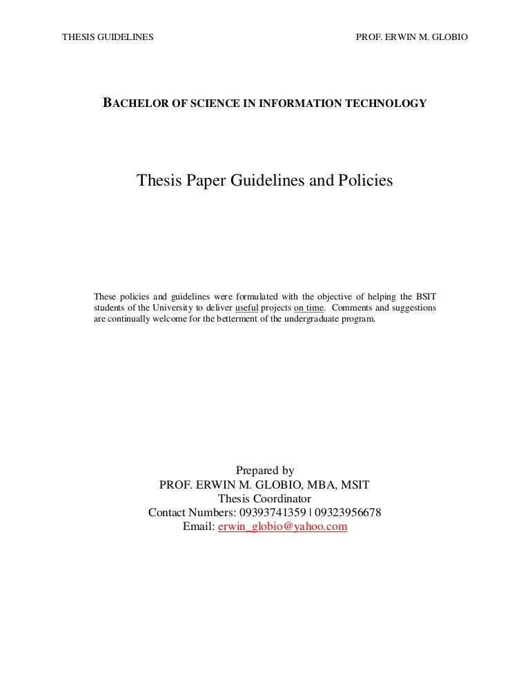 bsit thesis titles