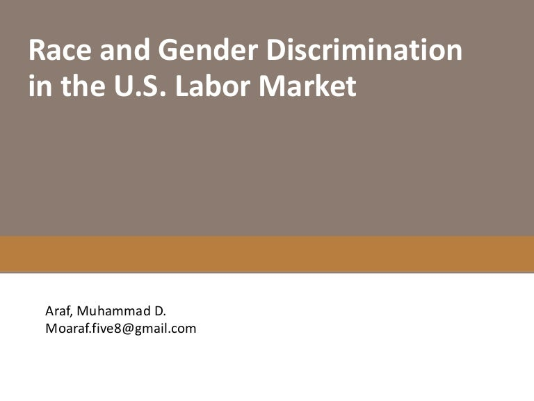 thesis statements racial discrimination Equal pay/compensation discrimination and the ada prohibit compensation discrimination on the basis of race, color, religion, sex, national origin.
