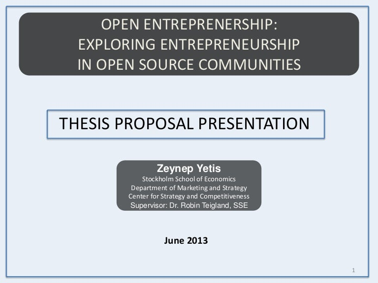 thesis proposal presentation