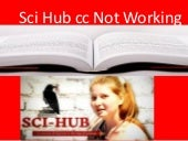 Sci Hub cc Not Working