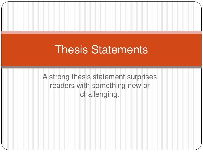 Creating Thesis Statement Outline - Library - Butte College