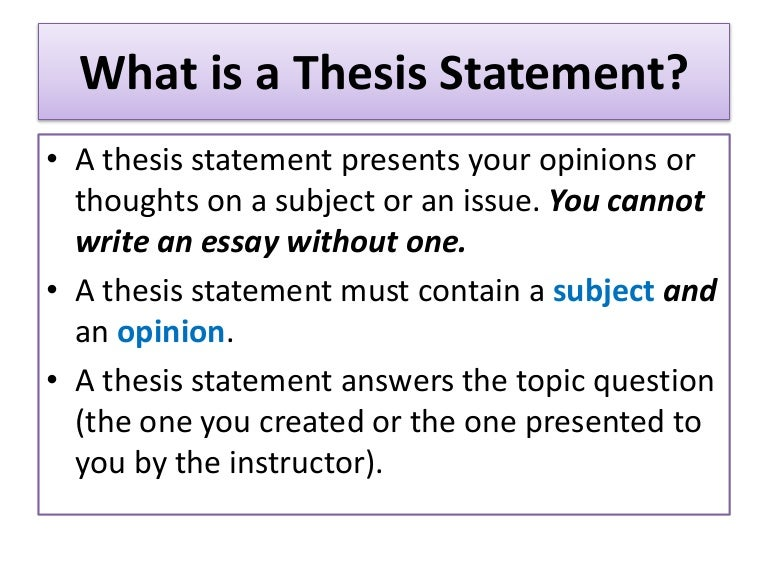 A thesis statement must do what write my esl argumentative essay online
