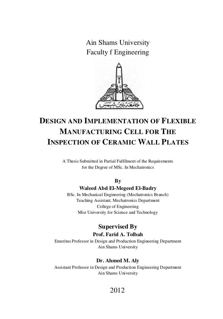 Mechatronics thesis