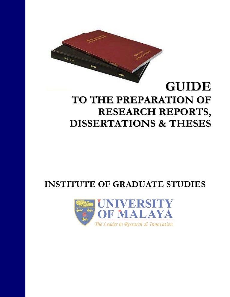 thesis guideline universiti malaya