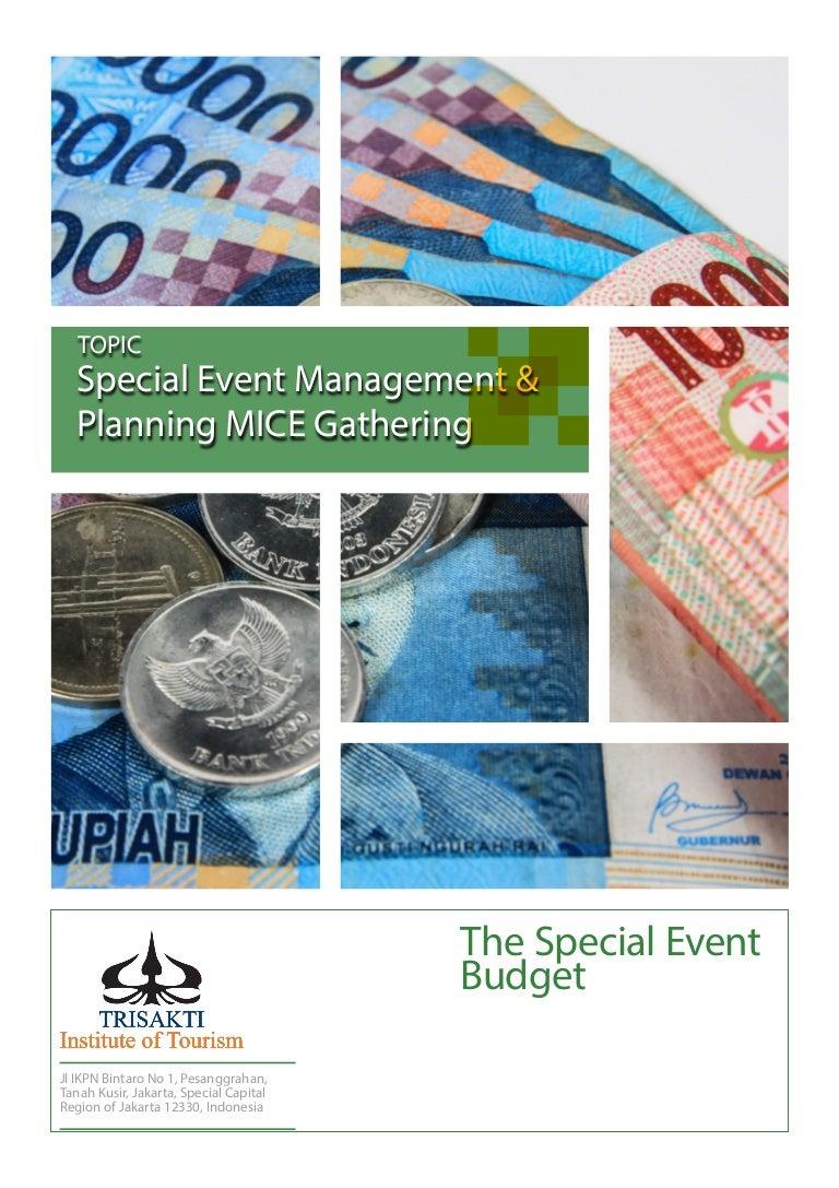the special event budget