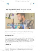 The Student Engineer Survival Guide | Max Swahn