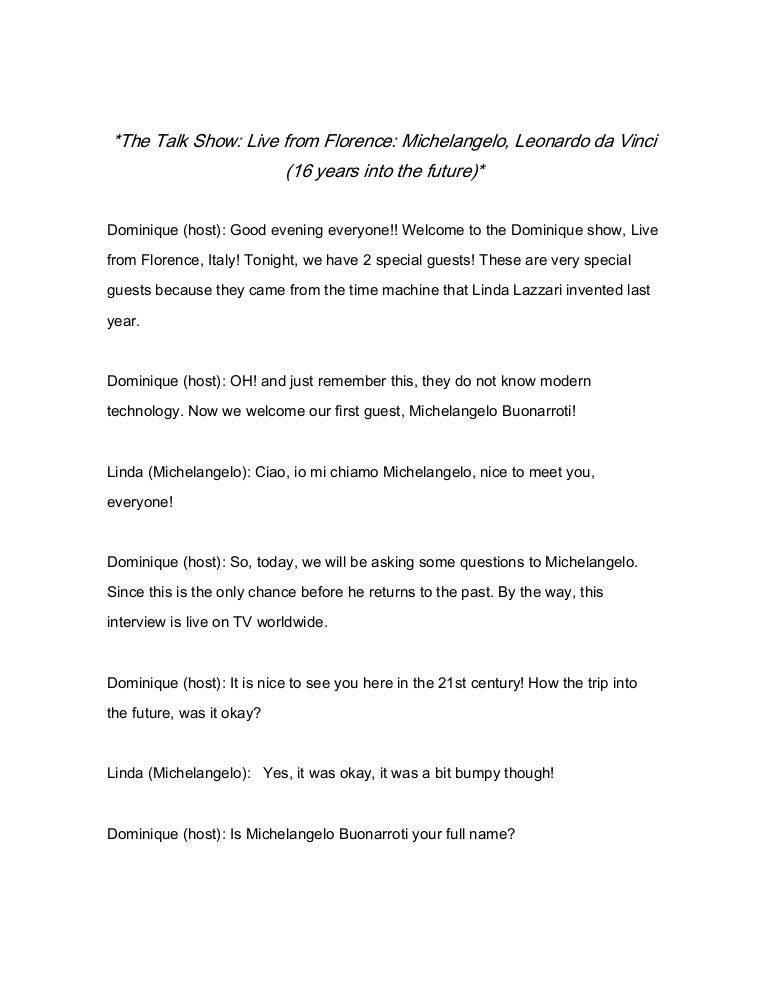 health talk show script Talk show script sample - download as pdf file (pdf), text file (txt) or read online sample of talk show scripteasy to use.