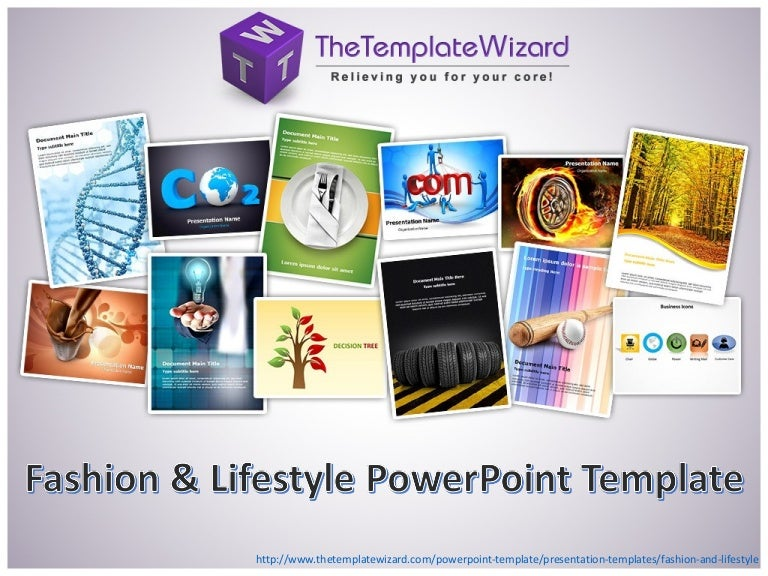 Fashion and Lifestyle PowerPoint Template - Fashion and