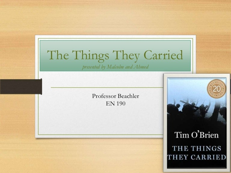the things they carried book presentation