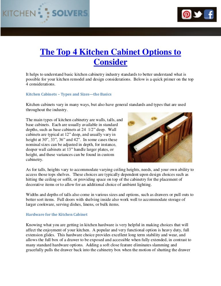 The Top 4 Kitchen Cabinet Options To Consider