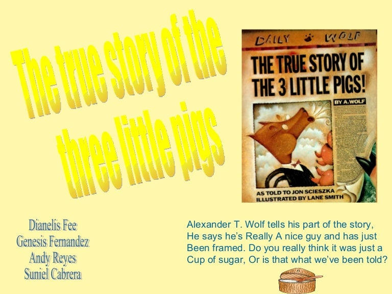 the true story of the three little pigs pdf