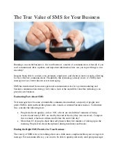 The True Value of SMS for Your Business