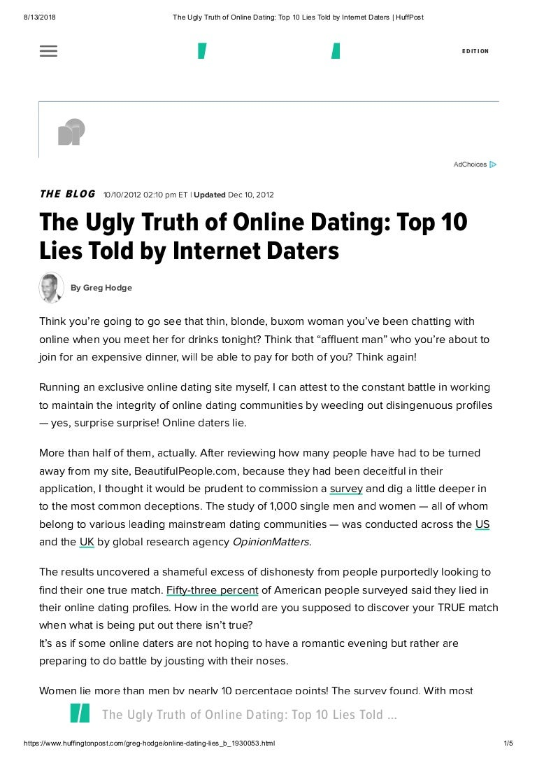 truth internet dating