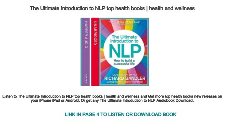 The Ultimate Introduction to NLP top health books | health ...