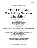 The Ultimate Marketing Success Checklist