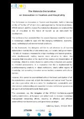 The valencia declaration on innovation in tourism and hospitality