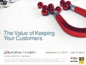 The Value of Keeping Your Customers