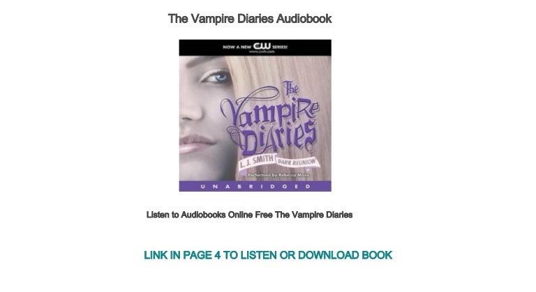 Listen To Audiobooks Online Free The Vampire Diaries