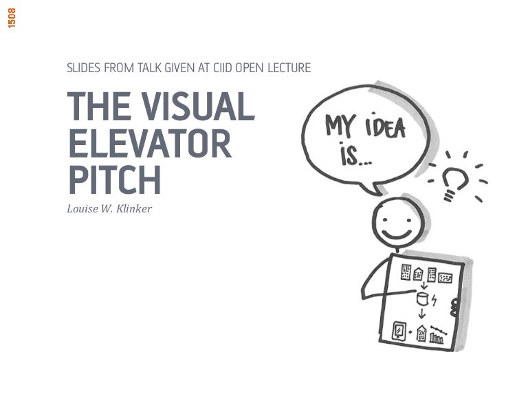 The visual elevator pitch